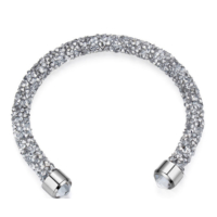 Monemel Swarovski® Taşlı Crystal Dust Bileklik - Gümüş Gri