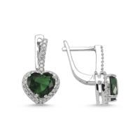 Nevinci Yeşil Kuvars Kalp Küpe