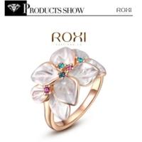 E-Hediyeci 18K Rose Gold Kaplama Renkli Çiçek Zirkon Yüzük 7