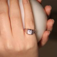 Modex Rose Kaplama Taş Detaylı Şövalye Serçe Parmağı Yüzüğü