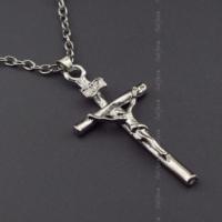 Solfera Çarmıh İsa Katolik Haç Istavroz Kolye Zincir K705