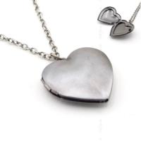 Solfera Kalp Antik Metal Fotoğraf Çerçeveli Kadın Kolye K710