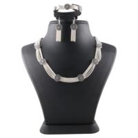 Akyüz Gümüş Mardin Hasırı Gümüş Set Sth011