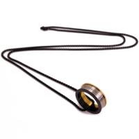 Chavin 75 Cm. Uzun Siyah Zincirli Çelik Erkek Kolye Ae75K