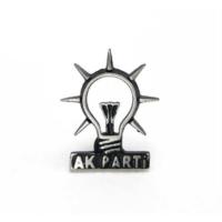 Osmanlı Gümüş 925 Ayar Gümüş Akparti Rozeti