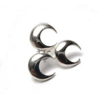 Osmanlı Gümüş Üç Hilal Mhp Ülkücü Gümüş Rozet