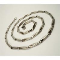 Osmanlı Gümüş Çelik Erkek Kolye Zincir İnce Kibar Model