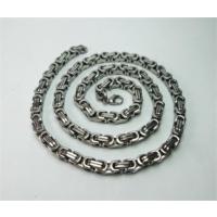Osmanlı Gümüş Erkek Çelik Kral Zincir Kolye Orta Kalilikta 5Mm