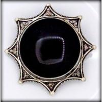 Şahin Gümüş Oltu Taşlı Gümüş Broş Cnrajmr4
