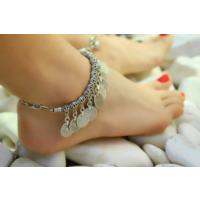 Takımania Gümüş Kaplama Boho Halhal
