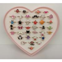 Sanalevshop Kalpli Kutusunda 36 Adet Farklı Model Ayarlanabilir Çocuk Yüzüğü