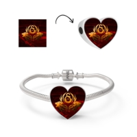 Angemiel Sarı Kırmızı Galatasaray Gümüş Charm Bileklik