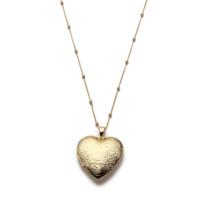 Modex Altın Kaplama Kapaklı Kalp Kolye