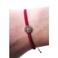 La Pescara Kırmızı Zirkon Motifli Erkek Örme Bileklik Blk1147