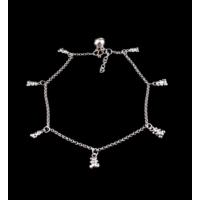 Akyüz Gümüş Ayıcık Gümüş Halhal Hl005