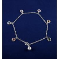 Akyüz Gümüş Renkli Zirkon Taşlı Gümüş Halhal Hl013