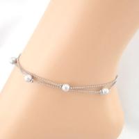 Vilas Gümüş Halhal - Kadın Mücevher Kolye Plaj Ayak Takısı