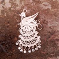 Sümer Telkari Telkari El Yapımı Gümüş Broş 100