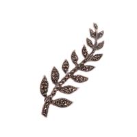 Sümer Telkari Markazit Taşlı Gümüş Başak Broş 107