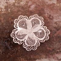 Sümer Telkari Telkari Örme El Yapımı Gümüş Broş 86