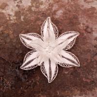 Sümer Telkari Telkari Örme El Yapımı Gümüş Broş 87