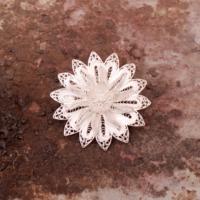 Sümer Telkari Telkari Örme El Yapımı Gümüş Broş 94