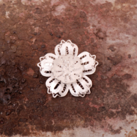 Sümer Telkari Telkari Örme El Yapımı Gümüş Broş 99