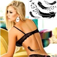 Leydika Black Tattoo - Siyah Geçici Metalik Dövme 521