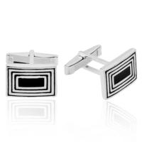 Denz Takı 925 Ayar Gümüş Dikdörgen Model Kol Düğmesi