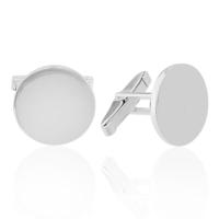 Denz Takı 925 Ayar Gümüş Sade Yuvarlak Model Kol Düğmesi