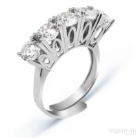 Argentum Concept Zirkon Beştaş Gümüş Ayarlanabilir Yüzük