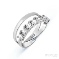 Argentum Concept Zirkon Yeditaş Gümüş Ayarlanabilir Yüzük