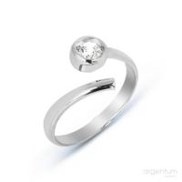 Argentum Concept Zirkon Taşlı Gümüş Ayarlanabilir Yüzük