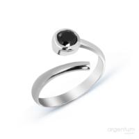 Argentum Concept Siyah Zirkon Taşlı Gümüş Ayarlanabilir Yüzük