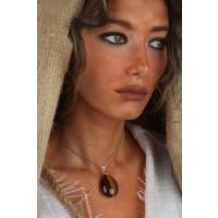 Dr Stone Doğaltaş Kadın Kaplangözü Kolye 23Hdr40