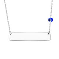 Altınsepeti İsim Yazılır Gözlü Gümüş Plaka Kolye G556Kl