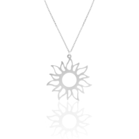 Azuris 925 Ayar Gümüş Büyük Güneş Kolye