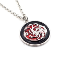 Solfera Game Of Thrones Targaryen Hanesi Ejderha Kolye K853