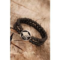 Çınar E-Ticaret Siyah Renk Oniks Erkek Doğal Taş Bileklik 934133