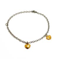 Chavin Sarı Kalp Kadın Çelik Halhal dp64