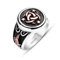 Tesbihane Teşkilat-ı Mahsusa-925 Ayar Gümüş Özel Tasarım Yüzük