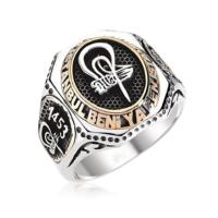 Tesbihane Ya İstanbul Beni Ya Ben İstanbulu Yazılı Gümüş Yüzük (Fetih Yüzüğü)