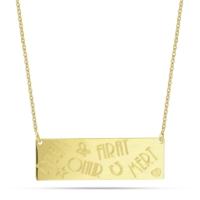Goldstore 14 Ayar Altın İsimli Plaka Kolye Pnj40687