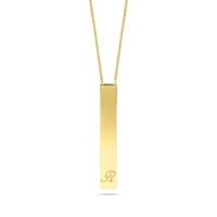 Goldstore 14 Ayar Altın İsimli Plaka Kolye Pnj40697