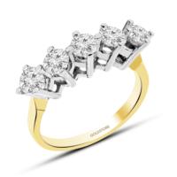 Goldstore Altın 5 Taş Yüzük Grw41670