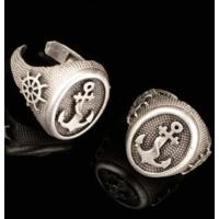 Modaroma Çapa Gümüş Kaplamalı Ayarlamalı Yüzük