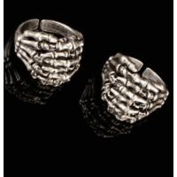 Modaroma İskelet Elleri Gümüş Kaplama Ayarlamalı Yüzük