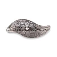 Akyüz Gümüş Telkari Gümüş Saç Tokası Tk003
