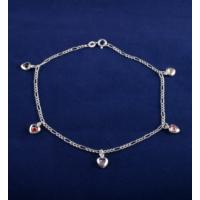 Akyüz Gümüş Kalp Motifli Gümüş Halhal Hl024
