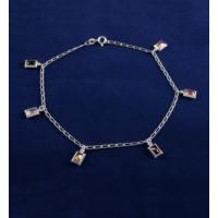 Akyüz Gümüş Renkli Zirkon Taşlı Gümüş Halhal Hl025
